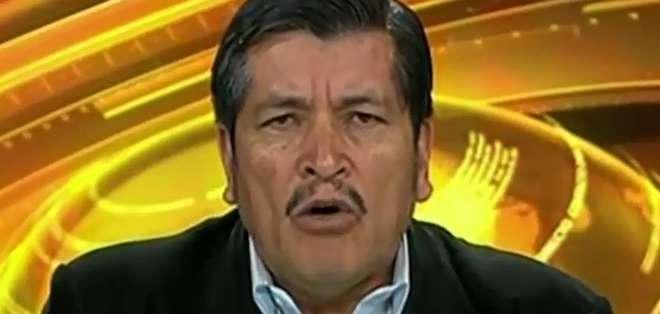 ECUADOR.- Mesías Tatamuez durante su entrevista en Contacto Directo. Foto: Ecuavisa