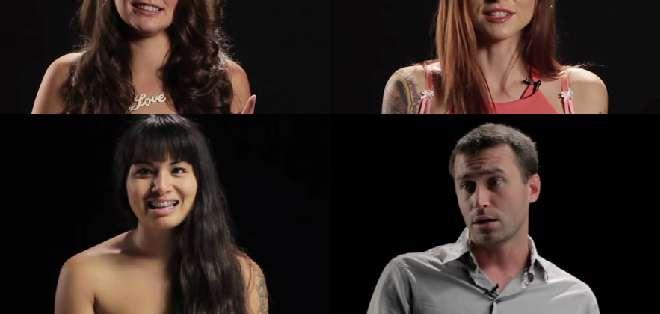 Milcah Halili (24), James Deen (28), Paris Kennedy (32), Danny Wylde (29) y Allie Haze (27), fueron los elegidos para hablar sobre el tema.