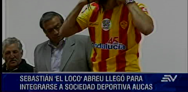 QUITO.- El jugador uruguayo tiene la intención de dejar buenos números en su nueva casa. Fotos: Captura.