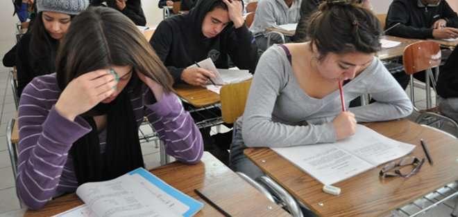 ECUADOR. Los resultados de los exámenes se conocerán  a fines de abril, así como a los estudiantes mejor puntuados. Fotos: Archivo