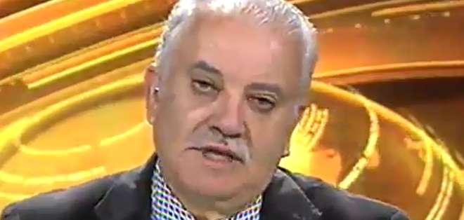 ECUADOR.- Galo Chiriboga durante su entrevista en Contacto Directo. Foto: Ecuavisa