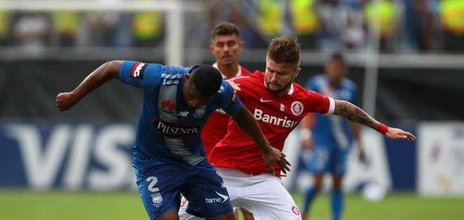 Emelec no logró superar al Inter. Foto: EFE.