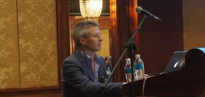GUAYAQUIL.- Andrew Wells, director de ENEX o European News Exchange, desde hace dos años forma parte también de la Alianza Informativa Latinoamericana.