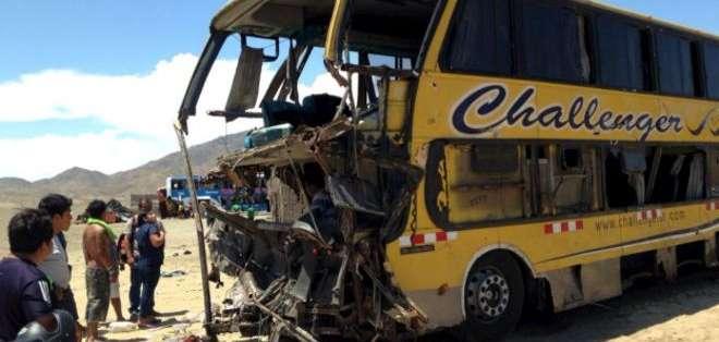 Uno de los autobuses transportaba a miembros de una congregación cristiana.