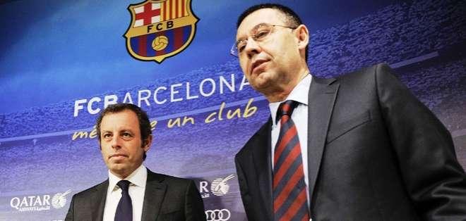 Sandro Rosell (izquierda) junto a Josep Maria Bartomeu (Foto: Internet)