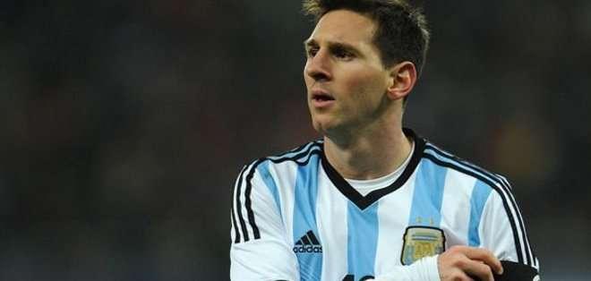Messi no tiene una lesión de consideración. Foto: AFP.