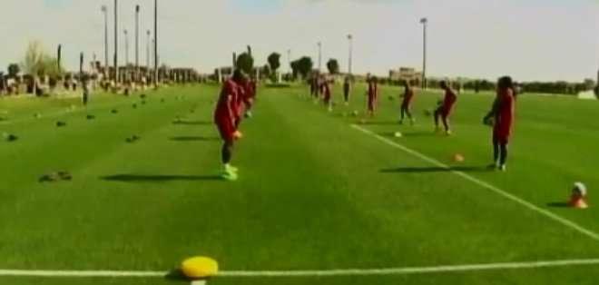 La selección nacional entrenó con miras al juego ante México.