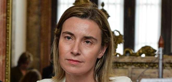 """CUBA. Mogherini reiteró que no existe ninguna competencia entre la UE y Washington, subrayando que son """"procesos diferentes"""" que se sitúan en """"contextos diferentes"""". Fotos: AFP"""