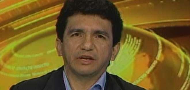 ECUADOR.- Cléver Jiménez durante su entrevista en Contacto Directo. Foto: Ecuavisa