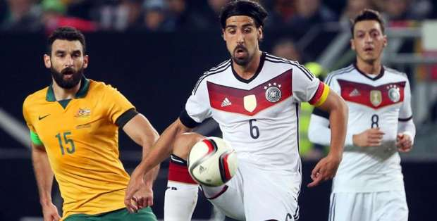 Sami Khedira marcó el medio en el encuentro. Foto: EFE.