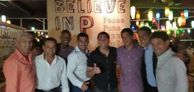 Alfaro Moreno junto a Raúl Noriega, Nicolás Asencio, Frickson George y José Cevallos. Foto: Twitter.