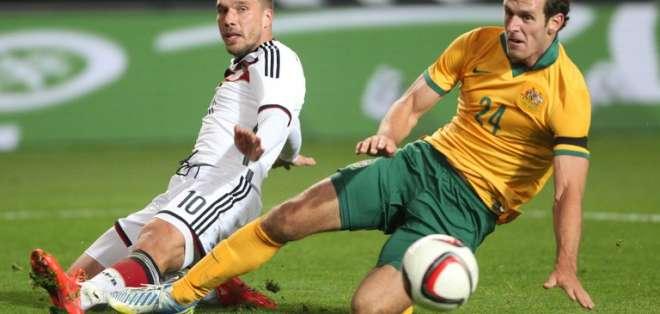 Los goles alemanes fueron anotados por Marco Reus y Lukas Podolski. Foto: AFP