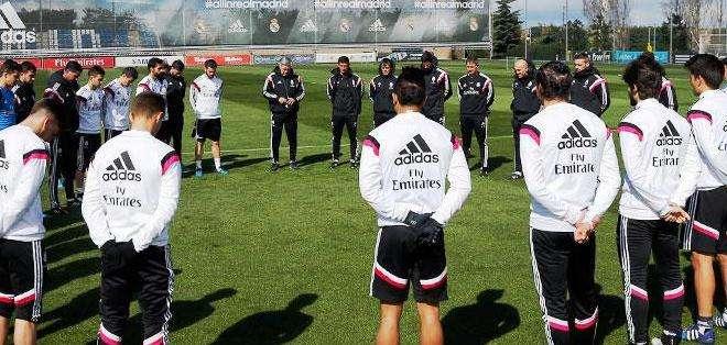 Los jugadores del Real Madrid en el entrenamiento de este miércoles (Foto: Realmadrid.com)
