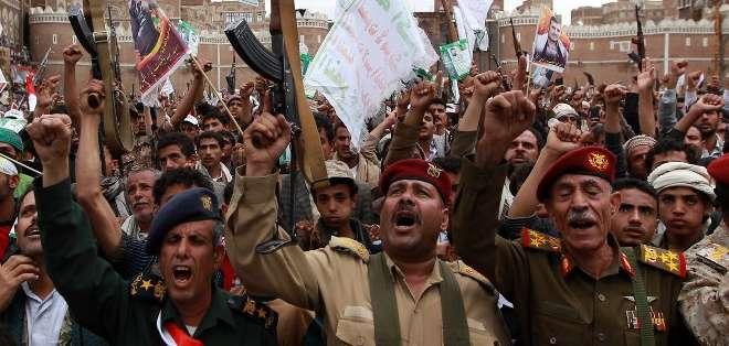 """""""Hizbulá condena de modo enérgico la agresión de Estados Unidos y Arabia Saudí contra el pueblo hermano de Yemen"""". Fotos: AFP"""