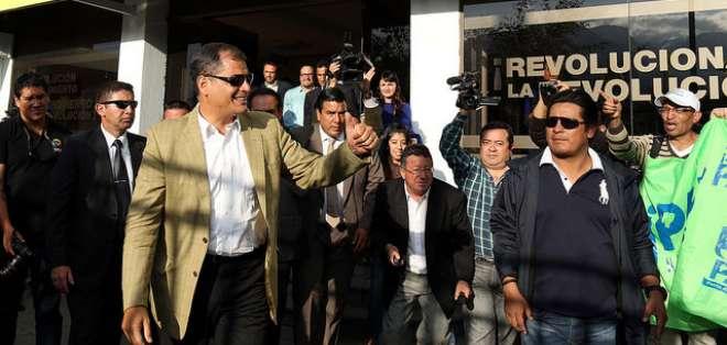 La cita estuvo encabezada por el presidente Rafael Correa y el vicepresidente, Jorge Glas. Foto: Presidencia