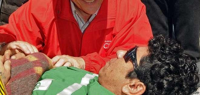Víctor Zamora fue el minero número 14 en ser rescatado en 2010.