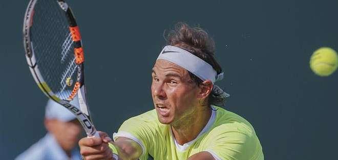 EE.UU.- Nadal supo aprovechar dos opciones de 'break' que le dio Almagro, y así tener ventaja en el partido. Fotos: EFE