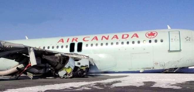 CANADÁ.- La aerolínea informó que 18 de los afectados habían sido dados de alta en los hospitales. Fotos: AFP