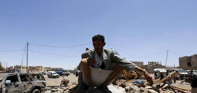 YEMEN.- El lugar acoge a los civiles que huyeron de combates que libraron los hutíes con el Ejército yemení. Foto: EFE