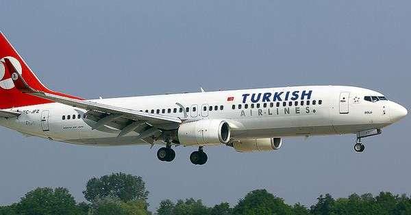 """ECUADOR.- El vuelo TK15 trasladaba a 256 personas a bordo; la nota con la palabra """"bomba"""" fue hallada en uno de los servicios del avión. Foto referencial de Internet"""