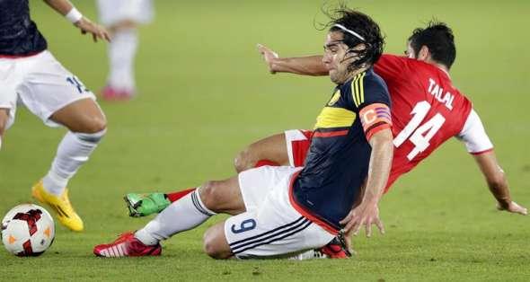 Falcao buscó su gol todo el partido. Foto: EFE.