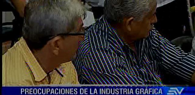 Miembros de la Cámara de la Industria Gráfica del Guayas se reunieron hoy en Guayaquil. Fotos: Ecuavisa