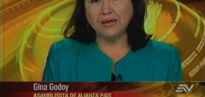 ECUADOR.- Gina Godoy durante su entrevista en Contacto Directo. Foto: Ecuavisa