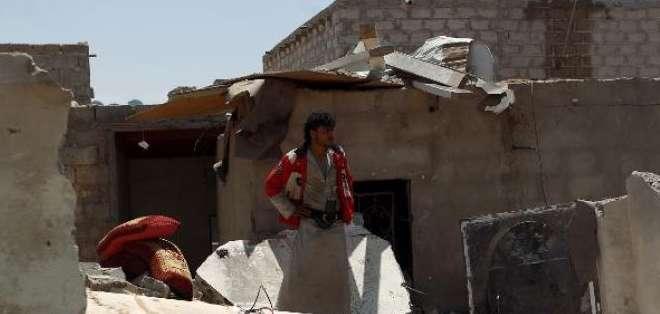 YEMEN.- Equipos de rescate seguían buscando otras eventuales víctimas; parte del edificio quedó devastado. Foto referencial