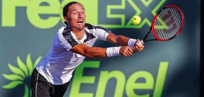 Alexander Dolgopolov en el partido ante Djokovic (Foto: EFE)