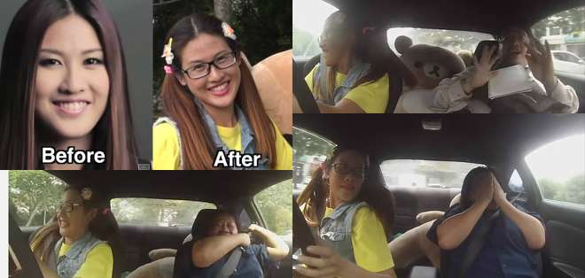 Leona Chin, piloto malasia y campeona del automovilismo femenino protagonizó esta divertida broma.