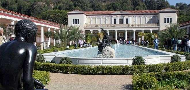 La Villa Getty es un símbolo del poder y la riqueza de J. Paul Getty.
