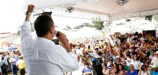 GUAYAS.- Esta sería la respuesta frente a la movilización que preparan los  grupos de oposición. Foto: Twitter: Presidencia
