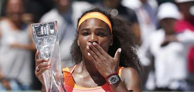 EE.UU.- Es la octava vez que Williams gana este torneo internacional.  Fotos: EFE