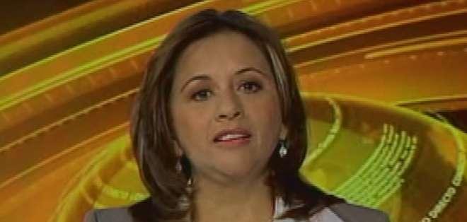 ECUADOR.- Betty Carrillo durante su entrevista en Contacto Directo. Foto: Ecuavisa