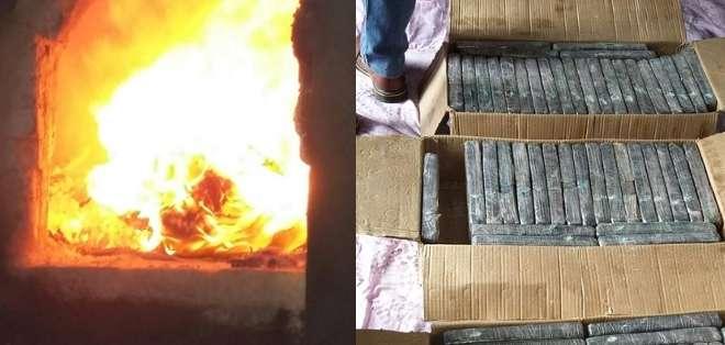 El cargamento corresponde a los decomisos realizados en el Puerto Marítimo durante el 2014 y lo que va de 2015. Foto: Ministerio del Interior.