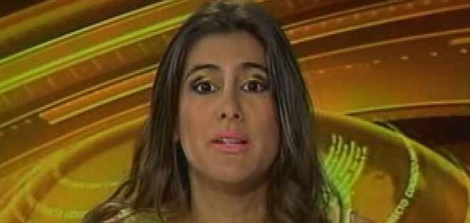 ECUADOR.- Cristina Reyes durante su entrevista en Contacto Directo. Foto: Ecuavisa