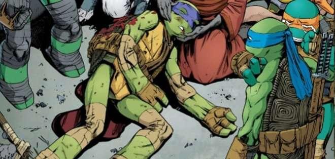 En el número 44 del cómic, de la editorial IDW, 'Donatello' se enfrenta en un combate mortal con los acérrimos enemigos.
