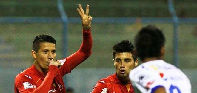 Marcos Delgado autor del gol de los peruanos (Foto: EFE)