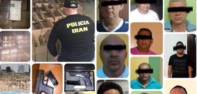 Casi dos toneladas de cocaína se decomisaron en Guayas, Pichincha y Manabí. Foto: Ministerio del Interior.