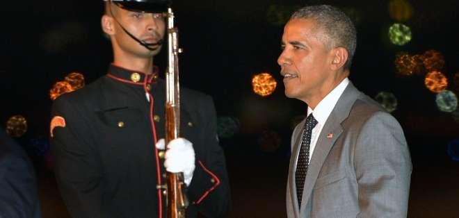 """PANAMÁ.- """"No preveo que a corto plazo el Congreso vaya a cambiar la ley federal"""", dijo Obama. Foto: AFP"""