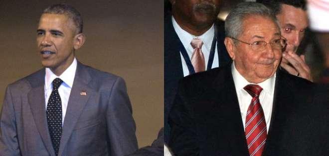 Los dos mandatarios participarán desde mañana en la Séptima Cumbre de las Américas en Panamá. Foto: EFE