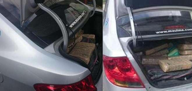 En total 75 paquetes estaban embalados y escondidos en sacos. Fotos: Ministerio del Interior.