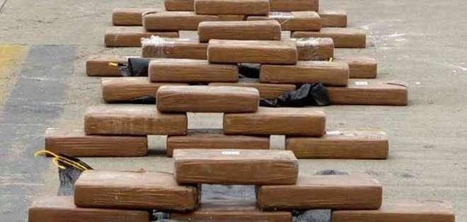 Foto referencial.- En lo que va del año, en los cuatro puertos de Guayaquil se han decomisado 4,5 toneladas de droga.