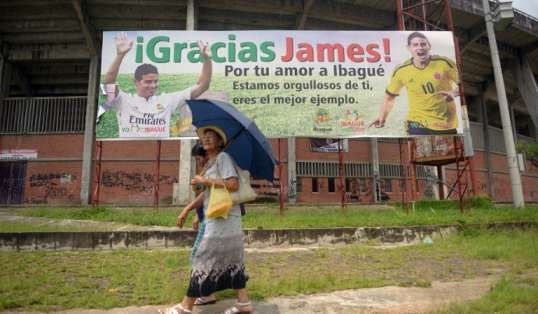 James es motivo de orgullo en Ibagué. Foto: AFP.