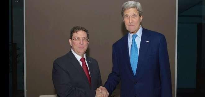 """PANAMÁ. Pasada la medianoche, un alto funcionario estadounidense sostuvo bajo anonimato que el encuentro fue """"largo"""" y lo calificó de """"muy constructivo"""". Fotos: AFP"""