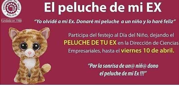 BOLIVIA.- Mediante esta iniciativa, la Univalle logró recolectar hasta el momento más de 500 peluches. Foto: Univalle