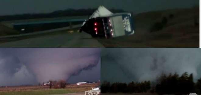 Un hombre logró estas impresionantes imágenes de este gran tornado en Estados Unidos.