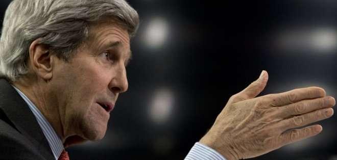 """ESTADOS UNIDOS. """"Es necesario que cesen los ataques y que nos dejen negociar sin interferencias para que podamos terminar el trabajo en los próximos dos meses y medio"""", dijo Kerry."""