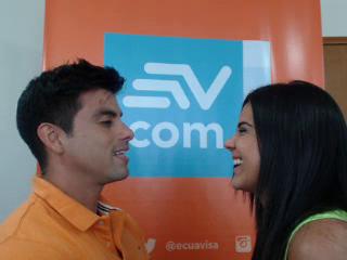 Ambos talentos revelaron detalles de su romance en el videochat de Ecuavisa.com.