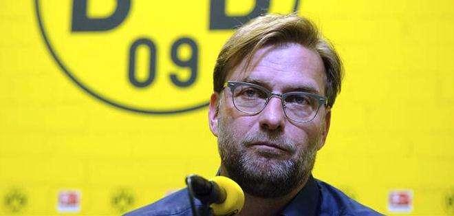 Jürgen Klopp durante la rueda de prensa de anuncio sobre su salida del Dortmund (Foto: EFE)